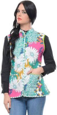 Panash Sleeveless Printed Women's Reversible Jacket