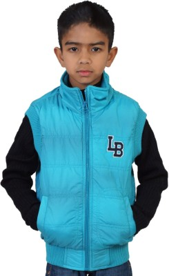 Little Bugs Sleeveless Solid Boy's Quilted Jacket