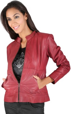 Pranjali Full Sleeve Solid Womens Leather Jacket Jacket