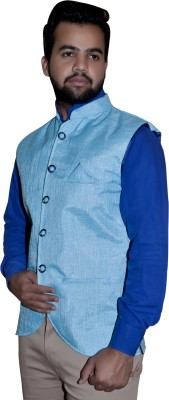 Attitude Works Sleeveless Solid Men's Jacket
