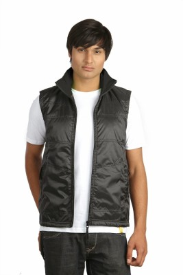 Campus Sutra Sleeveless Solid Men,s Quilted Jacket