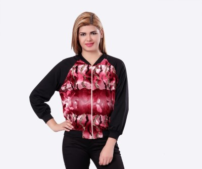 Glam & Luxe Full Sleeve Printed Women's Cropped Jacket