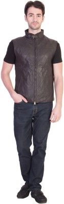 JUSTANNED Half Sleeve Solid Men's Jacket