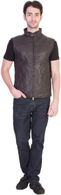 JUSTANNED Half Sleeve Solid Men's Jacket