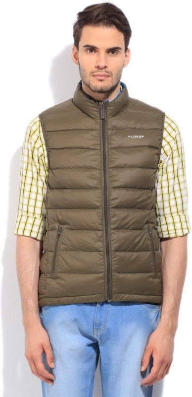 U.S. Polo Assn. Sleeveless Solid Men's Quilted Jacket