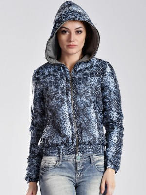 GAS Full Sleeve Animal Print Women's Quilted Jacket