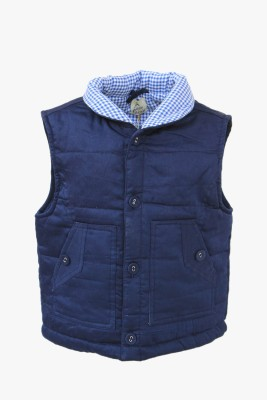 A Little Fable Sleeveless Solid Girl's Jacket