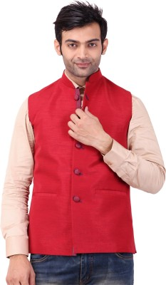 Apex Tailor Sleeveless Solid Men's Nehru Jacket Jacket