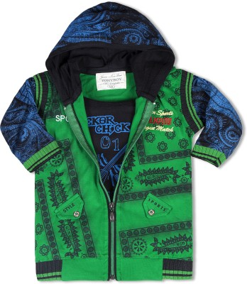 TonyBoy 3/4 Sleeve Printed Boys Jacket