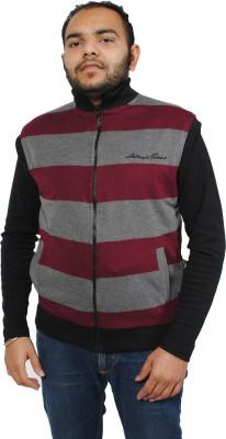 Gazelle Active Sleeveless Solid, Striped Men's Reversible Jacket