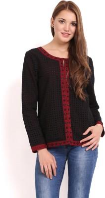 Femenino Full Sleeve Self Design Women's Jacket