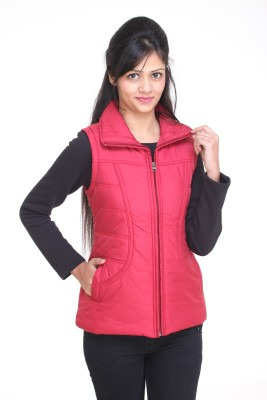 Trufit Sleeveless Solid Women,s Bomber Jacket