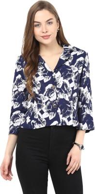 La Zoire 3/4 Sleeve Floral Print Women's Jacket