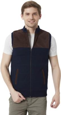 Peter England Sleeveless Self Design Men's Jacket