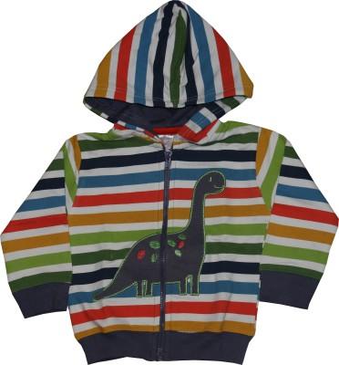 Pink Rabbit Full Sleeve Striped Baby Boys Jacket