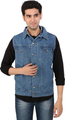 Magneto Sleeveless Solid Men's Jacket