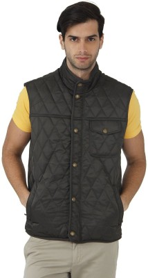 Fahrenheit Sleeveless Self Design Men's Quilted Jacket