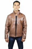 Launcher Full Sleeve Solid Men's Leather...