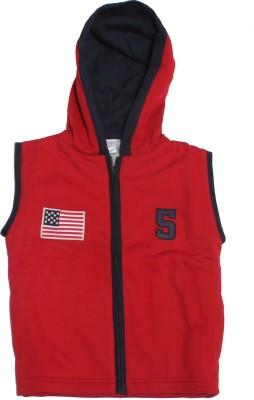 Babiano Sleeveless Solid Baby Boy's Jacket