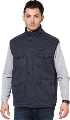 Okane Sleeveless Self Design Men,s Cotton Jacket