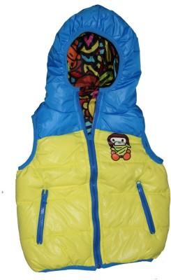 Habooz Sleeveless Self Design Boy's Jacket
