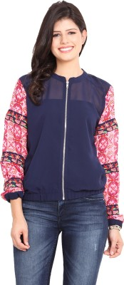 Paprika Full Sleeve Solid Women's Quilted Jacket