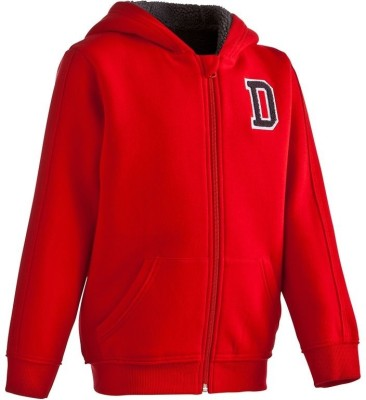 Domyos Full Sleeve Solid Boy's Quilted Jacket
