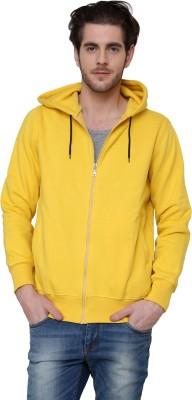 Casual Tees Full Sleeve Solid Men,s Fleece Jacket