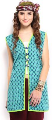 Anouk Rustic Sleeveless Printed Women's Jacket