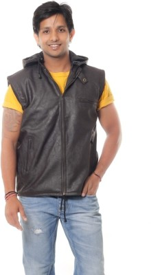 Davie Jones Sleeveless Solid Men,s Jacket