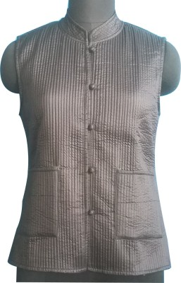 M S Export Sleeveless Self Design, Floral Print Women's Jacket