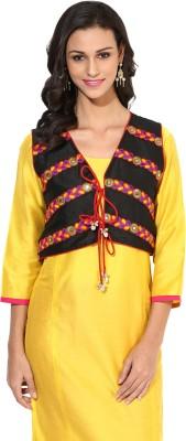 Indibox Sleeveless Embroidered Women's Jacket