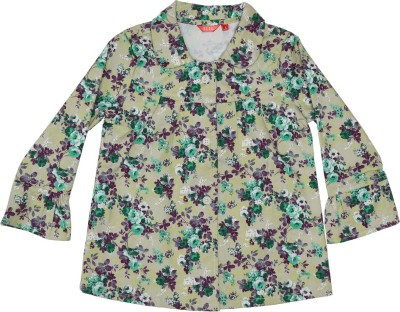 Elle Full Sleeve Woven Girl's Jacket