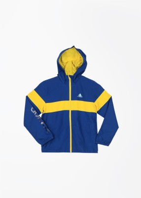 Adidas Full Sleeve Striped Boy's Sports Jacket Jacket
