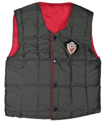Habooz Sleeveless Solid Boy's Jacket