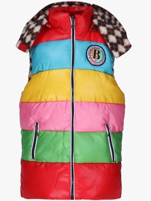 Sakhi Sang Sleeveless Solid Girl's Quilted Jacket