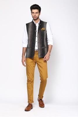 Even Sleeveless Striped Men's Jacket