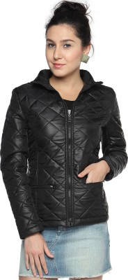 Campus Sutra Full Sleeve Solid Womens Quilted Jacket