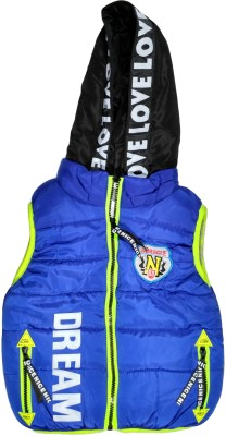 Fusion Fashion Sleeveless Solid Boys Jacket