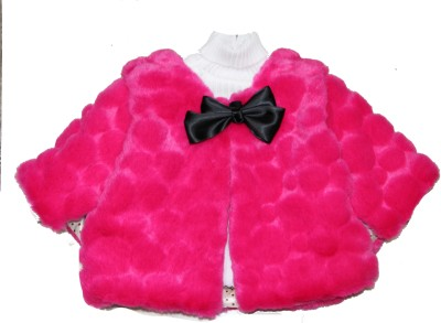 Habooz Solid Girls Quilted Jacket