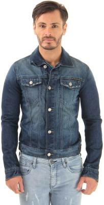 Jack & Jones Full Sleeve Solid Men's Denim Jacket