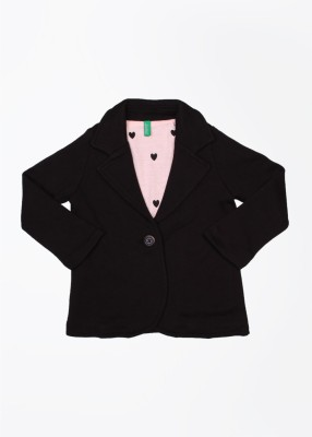 United Colors of Benetton Full Sleeve Solid Girl's Jacket