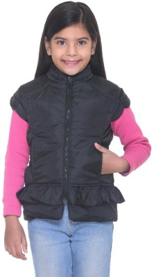 Kids-17 Sleeveless Solid Girls Jacket