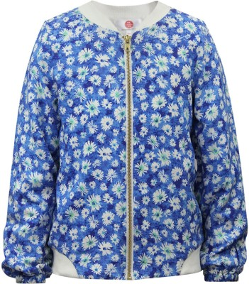 The Cranberry Club Full Sleeve Printed Girl's Jacket