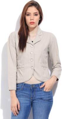 Flying Machine Full Sleeve Solid Women's Fleece Jacket Jacket