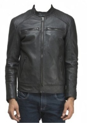 shamaleather Full Sleeve Solid Men's Jacket