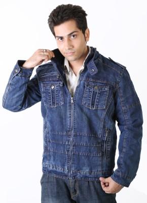 Nomkler Full Sleeve Solid Men's Denim Denim Jacket