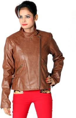 Launcher Full Sleeve Solid Women,s Leather Jacket