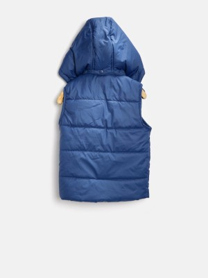 Yk Sleeveless Solid Boy's Jacket