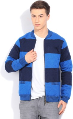 United Colors of Benetton Full Sleeve Striped Mens Jacket